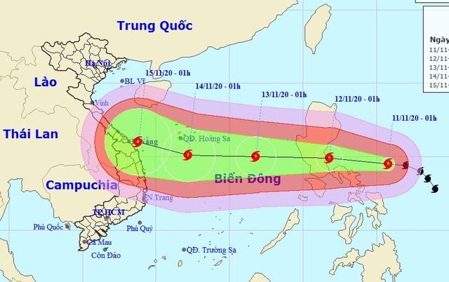 Bão Vamco liên tục tăng cường độ, sắp vào Biển Đông - 1
