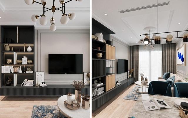 Từng trạng thiết bị được bố trí khéo léo, liên kết giữa các phòng giúp căn hộ tiện nghi và gọn gàng