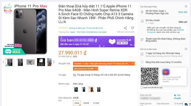 iPhone, tai nghe giảm giá hơn 10 triệu đồng là trò lừa đảo ngày sale 11/11 - 1