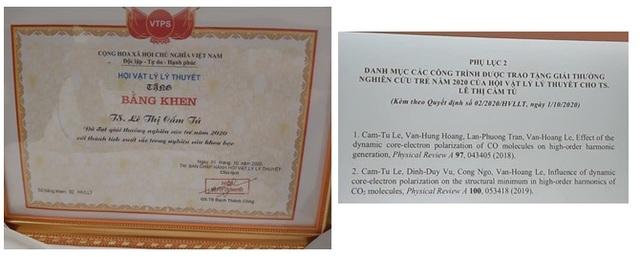 Nhà khoa học nữ 32 tuổi nhận giải thưởng Nghiên cứu trẻ xuất sắc về Vật lý - 2