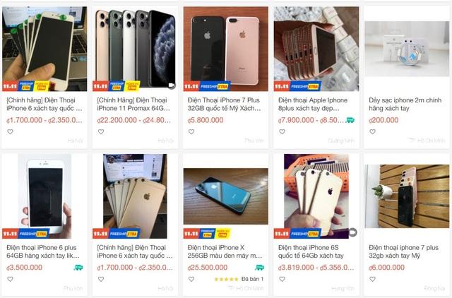 iPhone, mỹ phẩm xách tay được rao bán tràn lan trên Lazada, Shopee - 1