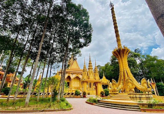"The ""gilded"" pagoda has the largest outdoor reclining Buddha statue in Vietnam - 3"