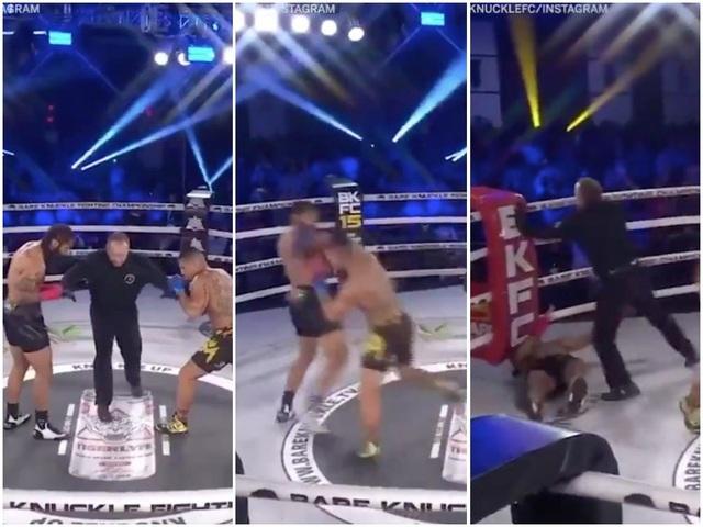 Khán giả chưa kịp ngồi, võ sĩ đã hạ knock-out đối thủ - 1