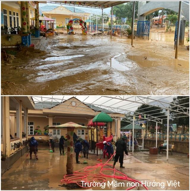 Trường học bị đất vùi lấp, sau một tháng học sinh mới được đến lớp - 4