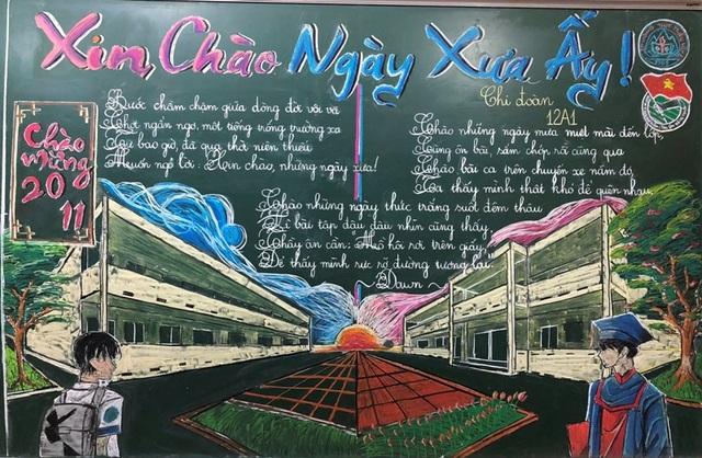 Độc đáo báo tường bằng... phấn vẽ trên bảng đen mừng Ngày Nhà giáo Việt Nam - 15