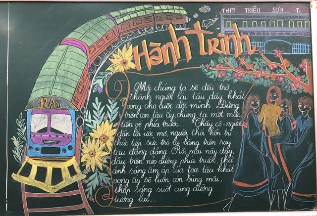 Độc đáo báo tường bằng... phấn vẽ trên bảng đen mừng Ngày Nhà giáo Việt Nam - 8