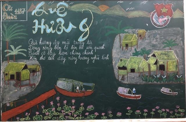 Độc đáo báo tường bằng... phấn vẽ trên bảng đen mừng Ngày Nhà giáo Việt Nam - 6