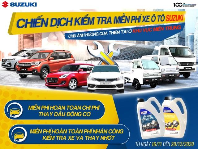 Suzuki triển khai chiến dịch đồng hành cùng miền Trung, kiểm tra xe và thay dầu động cơ miễn phí - 1