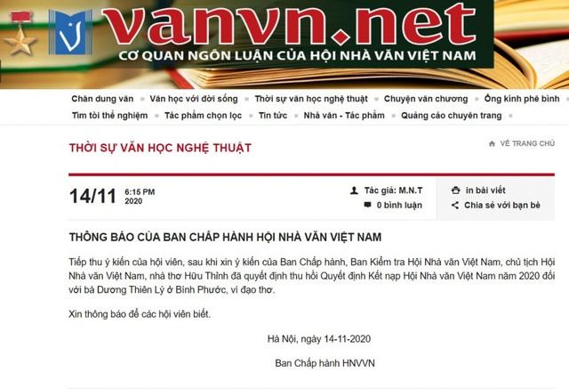 """Hội Nhà văn Việt Nam thu hồi quyết định kết nạp một hội viên vì """"đạo thơ"""" - 1"""