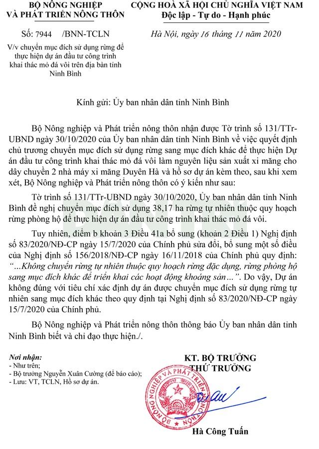 Ninh Bình xin chuyển 38ha rừng tự nhiên để khai thác... mỏ đá vôi - 1