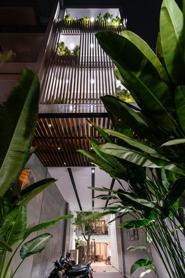 Vẻ đẹp ẩn giấu trong ngôi nhà ống có mặt tiền độc, lạ ở Sài Gòn - 3
