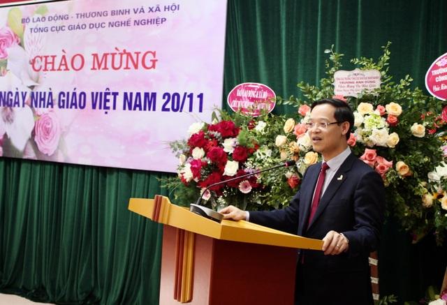 Tổng Cục trưởng TCGDNN Trương Anh Dũng gửi gắm những lời tri ân tới các nhà giáo giáo dục nghề nghiệp.