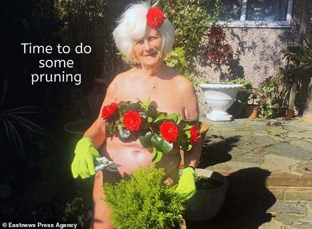 Bà cụ 80 tuổi chụp ảnh lịch khỏa thân giúp gây quỹ từ thiện - 1