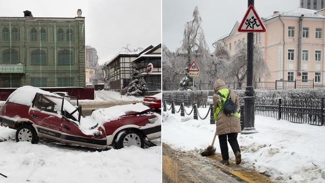 Thành phố Nga tê liệt vì mưa băng thảm họa - 1