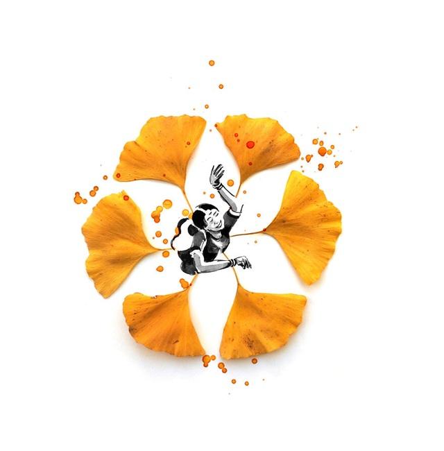 """Lá vàng và màu nước tạo nên những """"tác phẩm mùa thu"""" hút mắt - 5"""