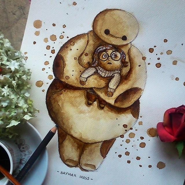 Những bức tranh thơm phức và trầm mặc đậm vị... cà phê - 2