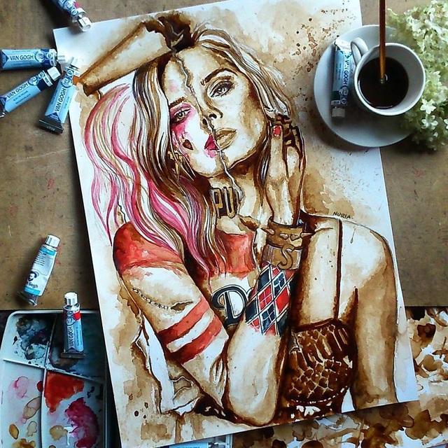Những bức tranh thơm phức và trầm mặc đậm vị... cà phê - 3