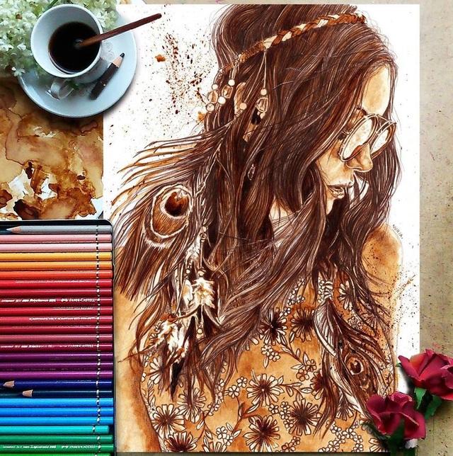 Những bức tranh thơm phức và trầm mặc đậm vị... cà phê - 5