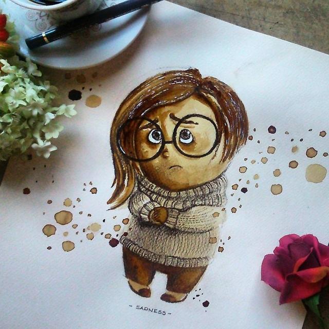 Những bức tranh thơm phức và trầm mặc đậm vị... cà phê - 7