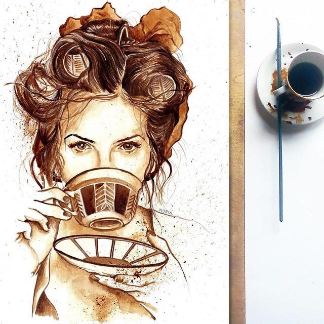 Những bức tranh thơm phức và trầm mặc đậm vị... cà phê - 8