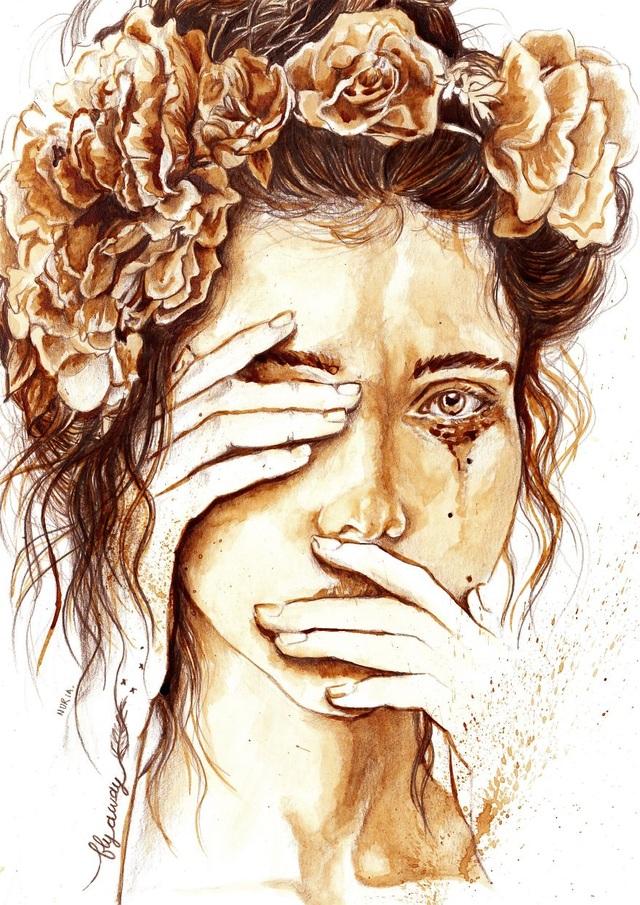 Những bức tranh thơm phức và trầm mặc đậm vị... cà phê - 9