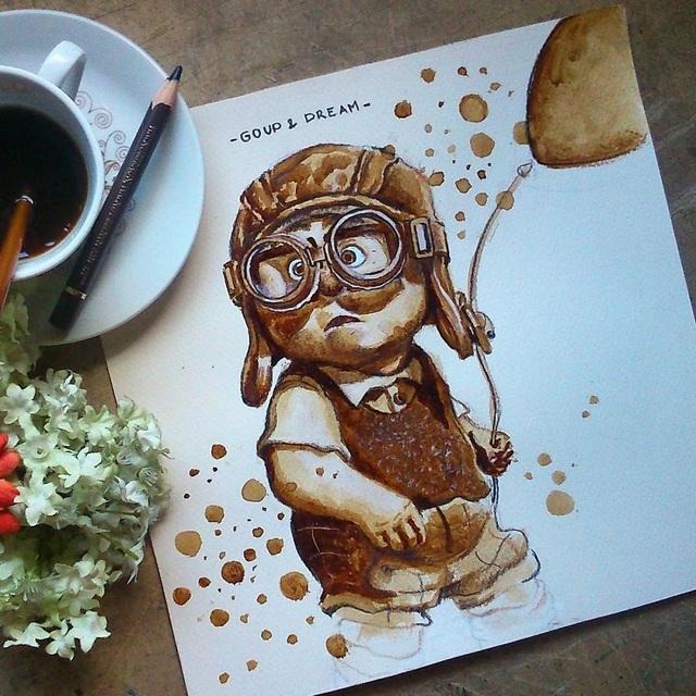 Những bức tranh thơm phức và trầm mặc đậm vị... cà phê - 11