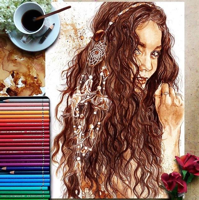 Những bức tranh thơm phức và trầm mặc đậm vị... cà phê - 12