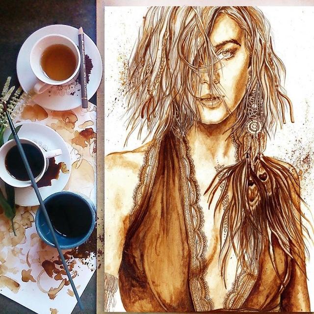 Những bức tranh thơm phức và trầm mặc đậm vị... cà phê - 13