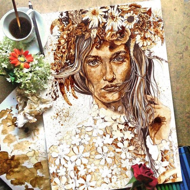 Những bức tranh thơm phức và trầm mặc đậm vị... cà phê - 15