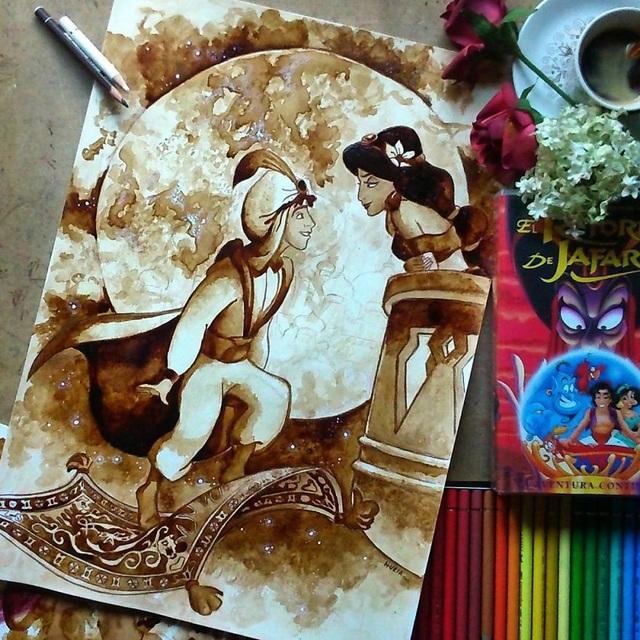 Những bức tranh thơm phức và trầm mặc đậm vị... cà phê - 16