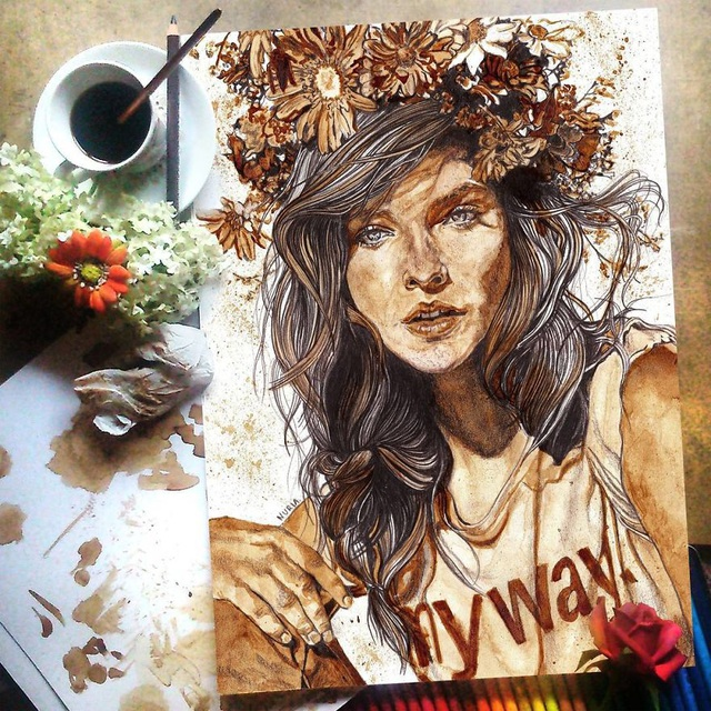 Những bức tranh thơm phức và trầm mặc đậm vị... cà phê - 17