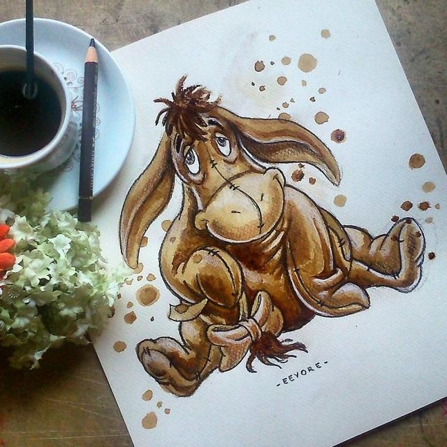 Những bức tranh thơm phức và trầm mặc đậm vị... cà phê - 19