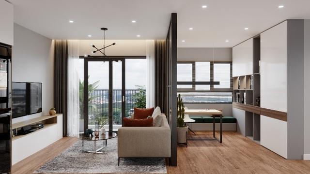 Biến hóa không gian 55 m2 thành căn hộ 2 phòng ngủ cực chuẩn - 2