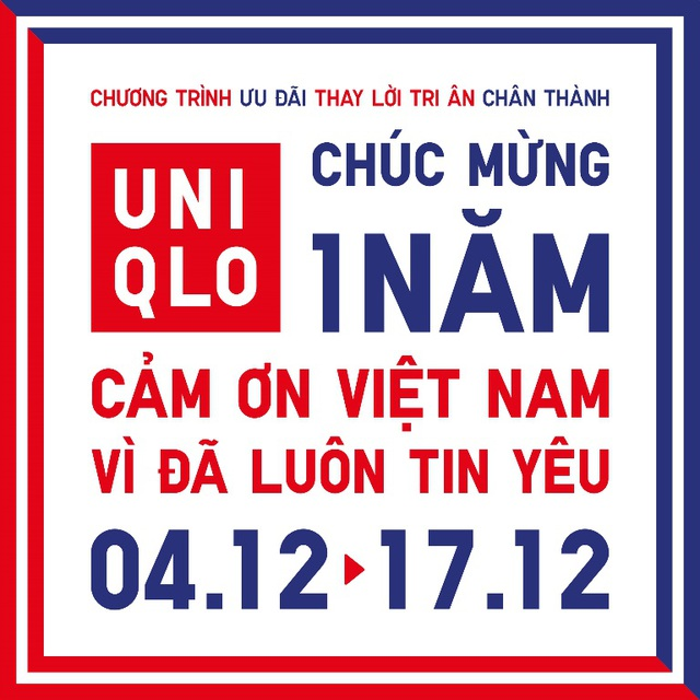 UNIQLO mang nhiều ưu đãi cho khách hàng kỷ niệm một năm đến Việt Nam - 1