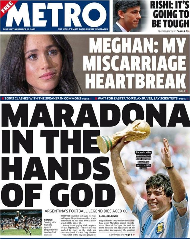 Báo chí thế giới tiếc thương cho sự ra đi của huyền thoại Maradona - 5