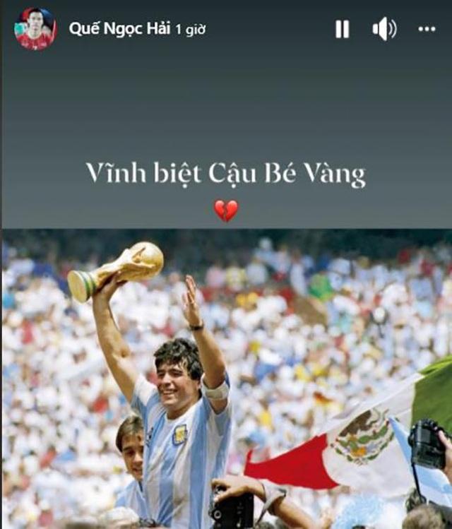 Giới bóng đá Việt Nam tiếc thương sự ra đi của Diego Maradona - 7