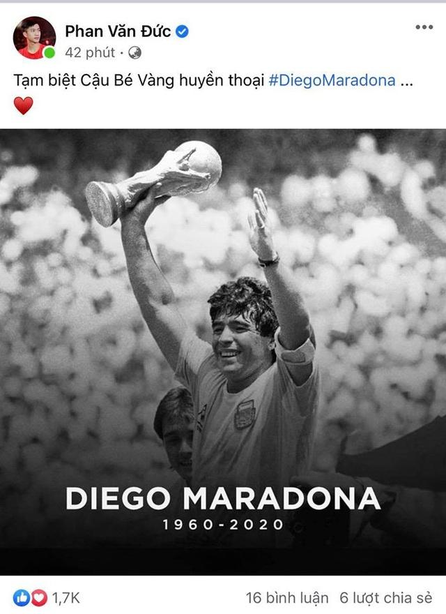 Giới bóng đá Việt Nam tiếc thương sự ra đi của Diego Maradona - 6