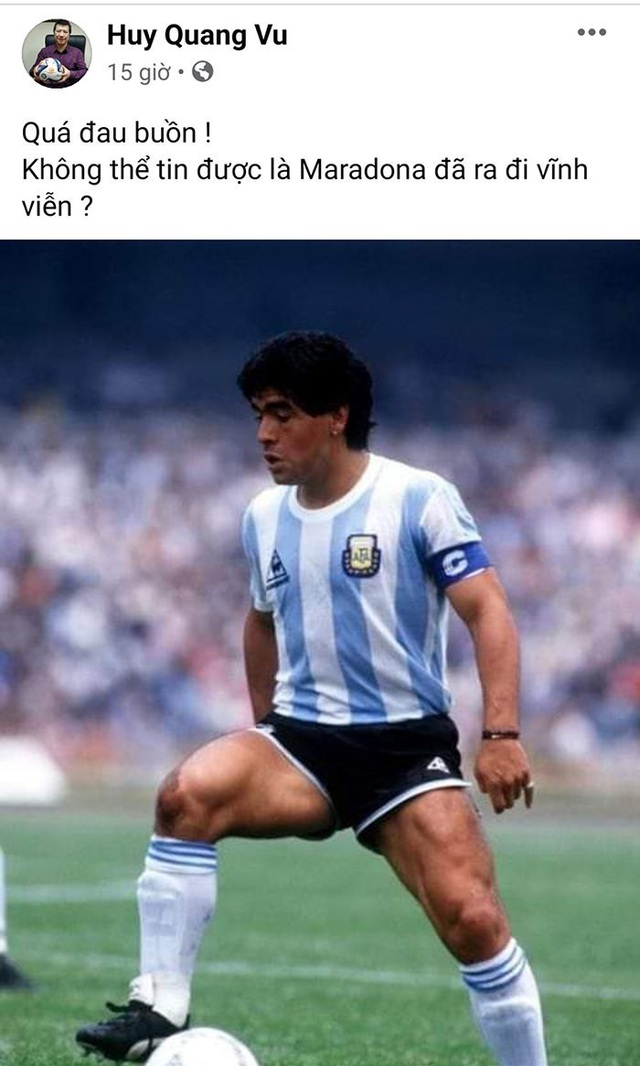 Giới bóng đá Việt Nam tiếc thương sự ra đi của Diego Maradona - 1
