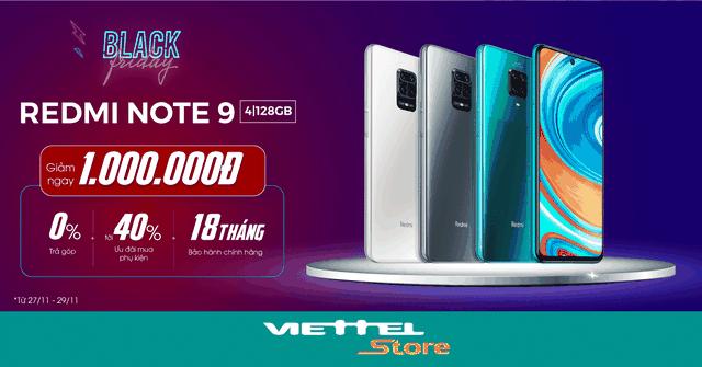 Black Friday: Viettel Store giảm sâu Xiaomi Redmi Note 9, chỉ còn 3.990.000đ - 1