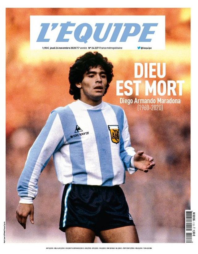 Báo chí thế giới tiếc thương cho sự ra đi của huyền thoại Maradona - 7
