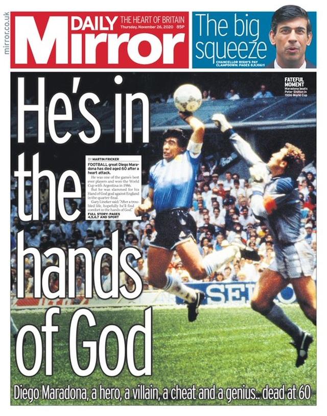 Báo chí thế giới tiếc thương cho sự ra đi của huyền thoại Maradona - 1