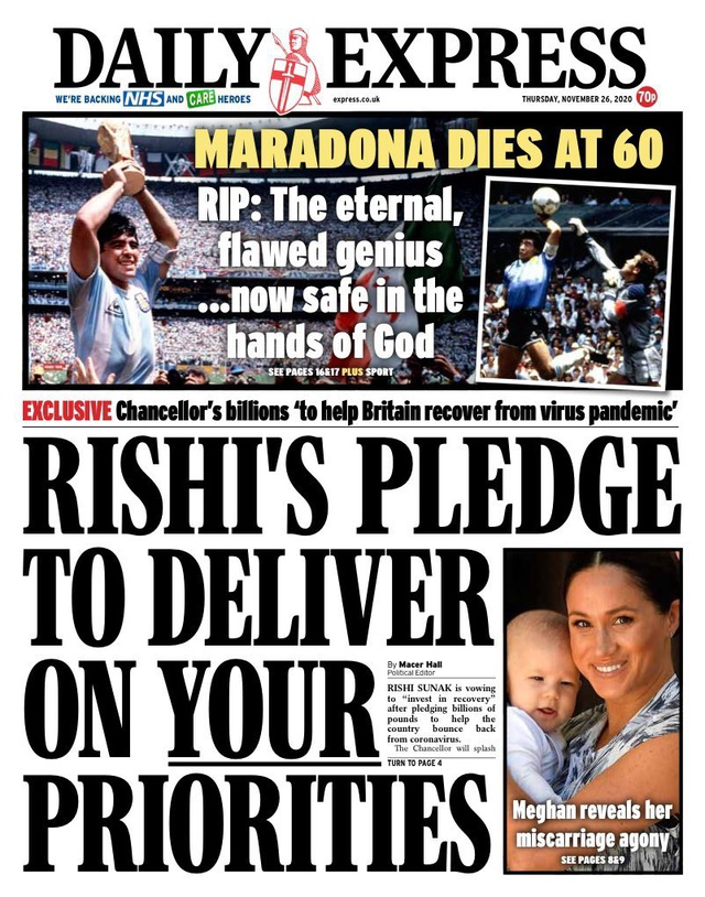 Báo chí thế giới tiếc thương cho sự ra đi của huyền thoại Maradona - 4