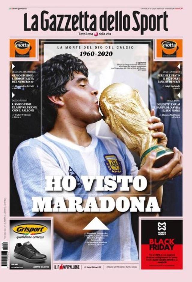 Báo chí thế giới tiếc thương cho sự ra đi của huyền thoại Maradona - 9
