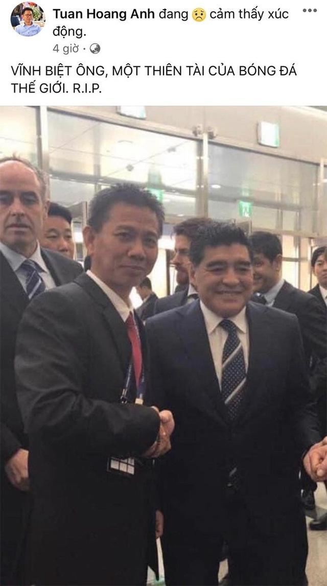 Giới bóng đá Việt Nam tiếc thương sự ra đi của Diego Maradona - 4