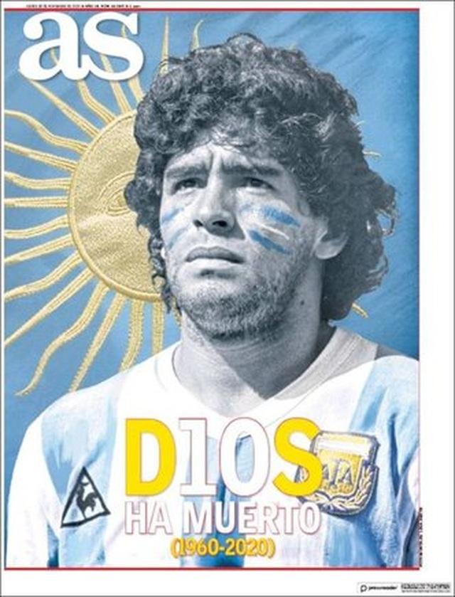 Báo chí thế giới tiếc thương cho sự ra đi của huyền thoại Maradona - 11