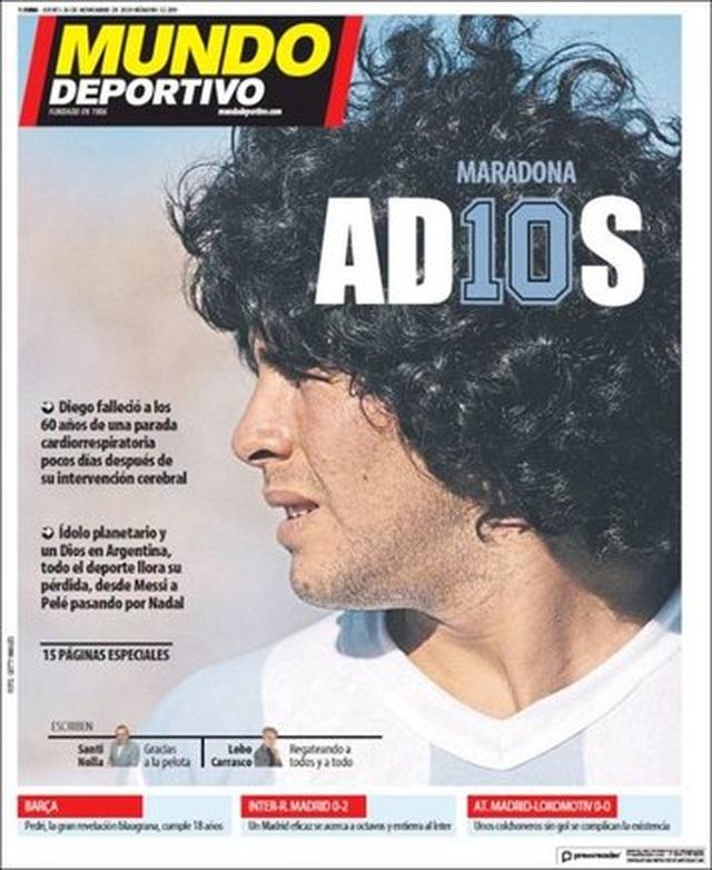 Báo chí thế giới tiếc thương cho sự ra đi của huyền thoại Maradona - 12