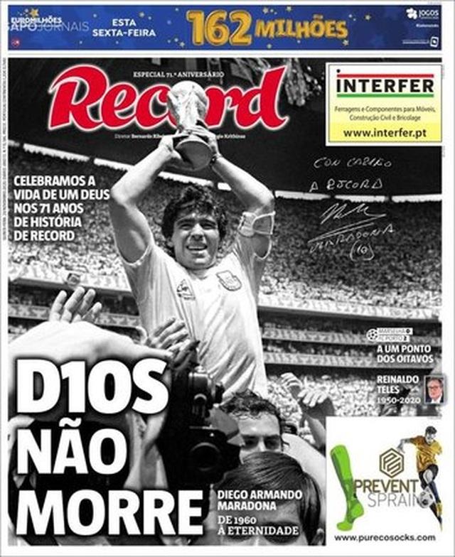 Báo chí thế giới tiếc thương cho sự ra đi của huyền thoại Maradona - 13