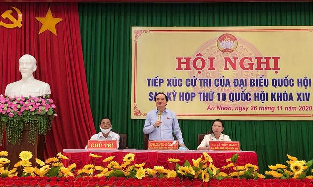 Bộ trưởng Phùng Xuân Nhạ trả lời cử tri về nâng chuẩn giáo viên - 1