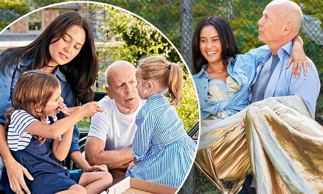 Hình ảnh hạnh phúc của ngôi sao U70 Bruce Willis bên vợ trẻ và hai con nhỏ - 3