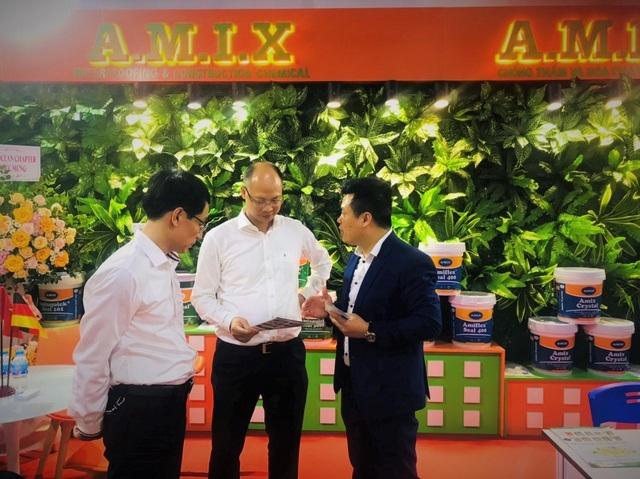 Gian hàng vật liệu chống thấm của người Việt gây ấn tượng mạnh tại triển lãm Xây dựng Quốc tế - 2